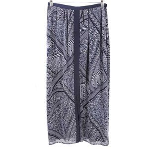 NWT Adrianna Papell Ikat Front Slit Maxi Skirt